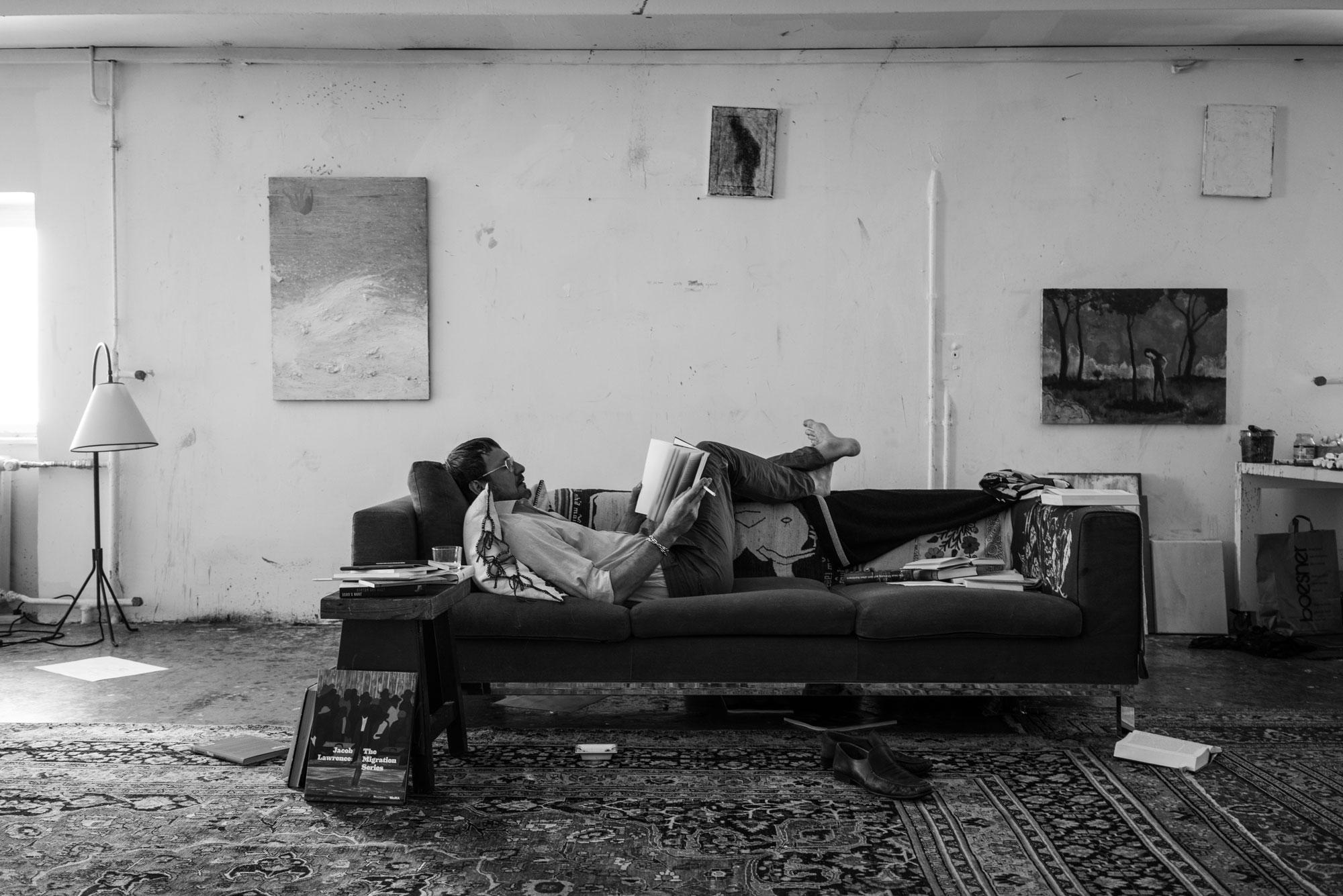 David Fischer — Daniel Richter in his Studio for Harper's Bazaar. – David Fischer